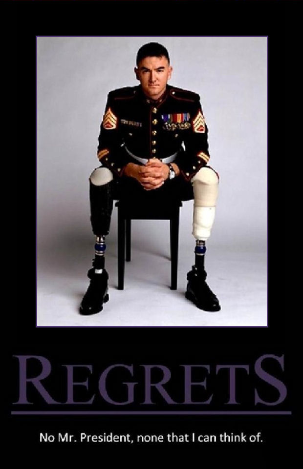 Regrets? No, Mr. President, none that i can think of ...